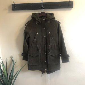 BCBG Olive Green Hooded Jacket